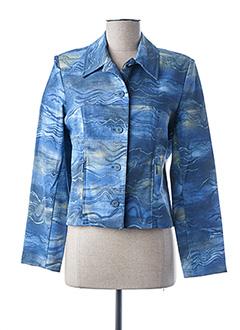 Veste en jean bleu UN POINT C EST TOUT pour femme