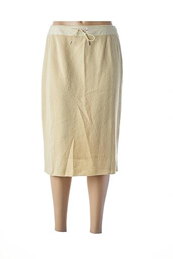Jupe mi-longue jaune DUO pour femme