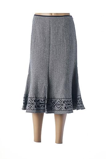 Jupe mi-longue noir HUCKE WOMAN pour femme
