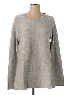 Pull col rond gris GAOS pour femme