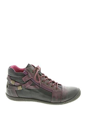 Baskets violet KICKERS pour fille