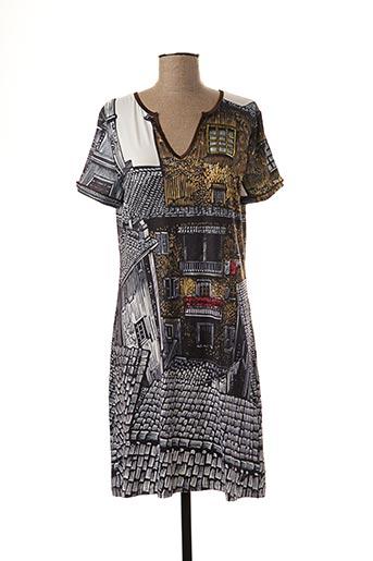 Robe mi-longue gris CULITO FROM SPAIN pour femme