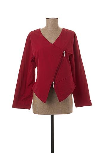 Veste casual rouge KOKOMARINA pour femme