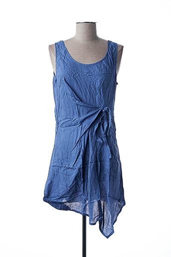 Robe courte bleu VIRGINIE & MOI pour femme