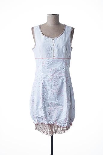 Robe courte blanc L33 pour femme