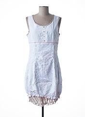 Robe courte blanc L33 pour femme seconde vue