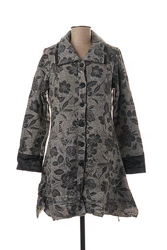 Manteau long gris L33 pour femme