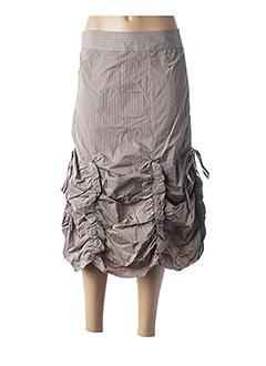 Jupe mi-longue beige L33 pour femme