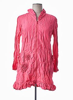 Veste casual rose L33 pour femme