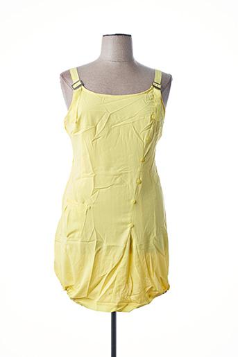 Robe mi-longue jaune L33 pour femme