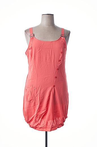 Robe mi-longue rouge L33 pour femme
