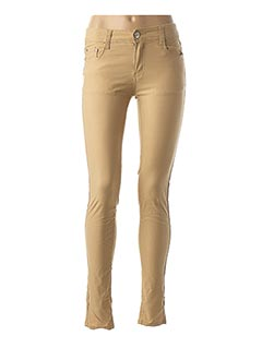 Pantalon casual beige BS JEANS pour femme