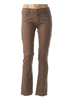 Pantalon casual marron BS JEANS pour femme