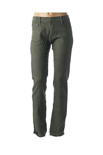 Pantalon casual vert BS JEANS pour femme