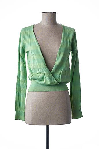 Pull cache-cœur vert STEFAN GREEN pour femme
