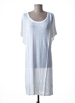 Robe pull blanc STEFAN GREEN pour femme