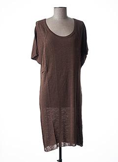 Robe pull marron STEFAN GREEN pour femme
