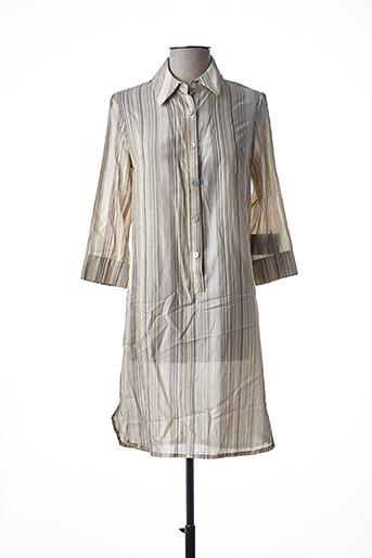 Robe courte beige TEENFLO pour femme