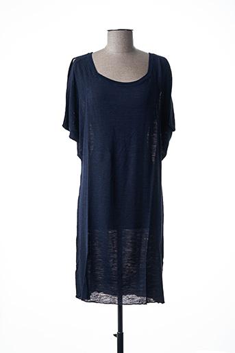 Robe pull bleu STEFAN GREEN pour femme