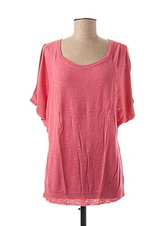 Pull col rond rose STEFAN GREEN pour femme