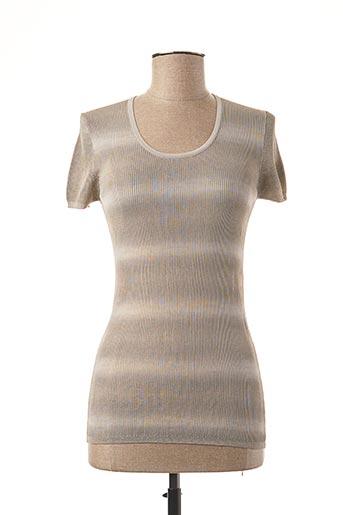 T-shirt manches courtes gris STEFAN GREEN pour femme