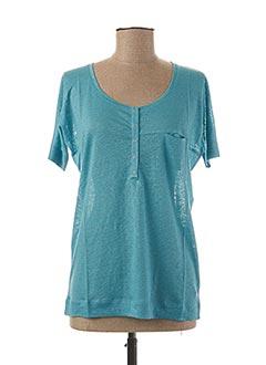 T-shirt manches courtes bleu TEENFLO pour femme