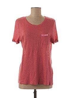 T-shirt manches courtes rouge TEENFLO pour femme