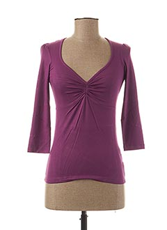 T-shirt manches longues violet TEENFLO pour femme