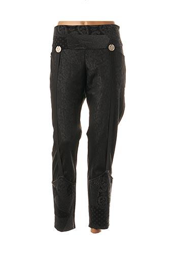Pantalon casual noir BATISTAME pour femme