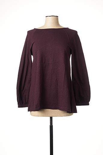 T-shirt manches longues violet NID D'ABEILLE pour femme