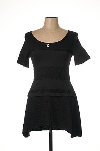 Tunique manches courtes noir CATY LESCA pour femme