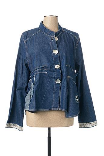 Veste en jean bleu CATY LESCA pour femme