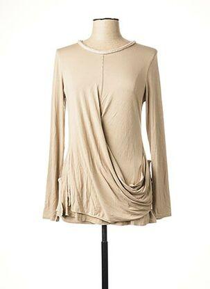 T-shirt manches longues beige CATY LESCA pour femme