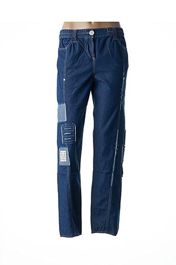 Pantalon casual bleu CATY LESCA pour femme