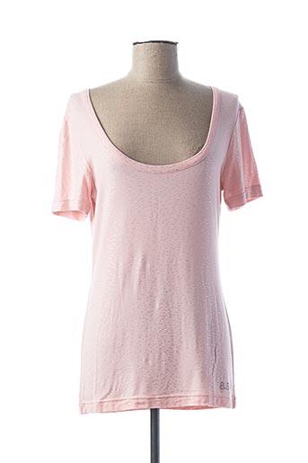 T-shirt manches courtes rose PAUL BRIAL pour femme