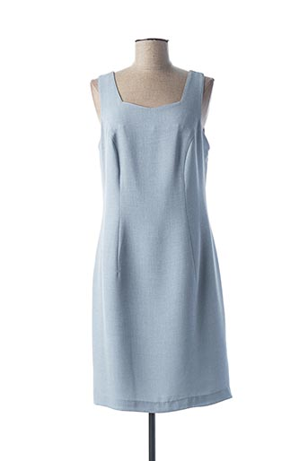 Robe mi-longue bleu QUATTRO pour femme