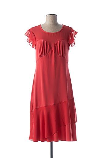 Robe mi-longue rouge FINETTE pour femme
