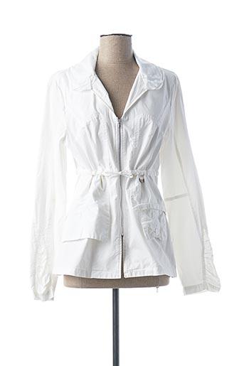 Veste casual blanc EVA KAYAN pour femme