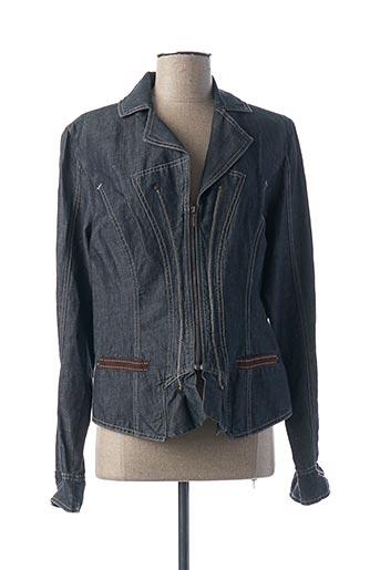 Veste en jean bleu EVA KAYAN pour femme