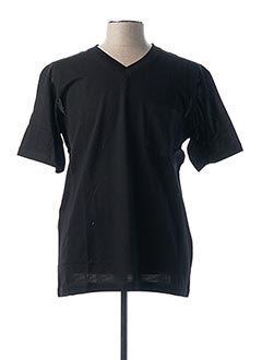 T-shirt manches courtes noir DELAHAYE pour homme