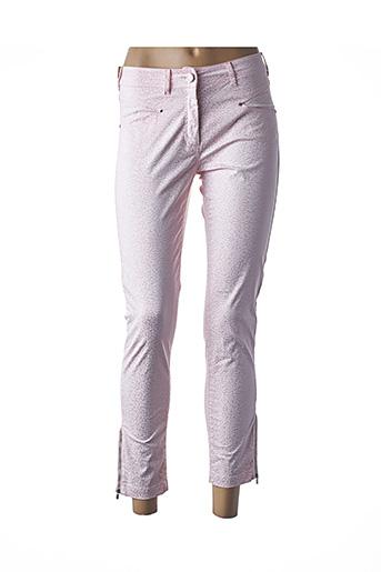 Pantalon 7/8 rose PAUL BRIAL pour femme