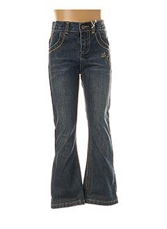 Jeans coupe droite bleu ALPHABET pour fille