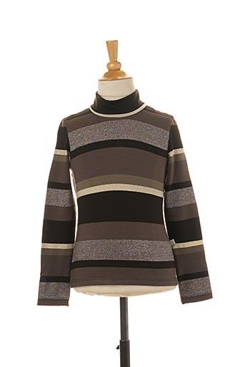 T-shirt manches longues marron JEAN BOURGET pour fille