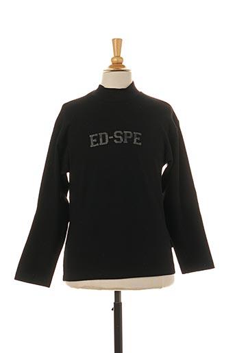 T-shirt manches longues noir JEAN BOURGET pour garçon