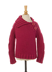 Pull col V rose JEAN BOURGET pour fille seconde vue