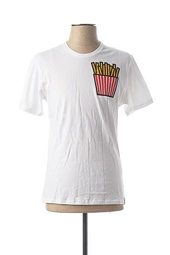 T-shirt manches courtes blanc FRENCH KICK pour homme