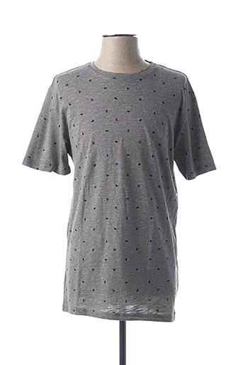 T-shirt manches courtes gris ONLY&SONS pour homme