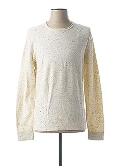 Pull col rond beige ONLY&SONS pour homme