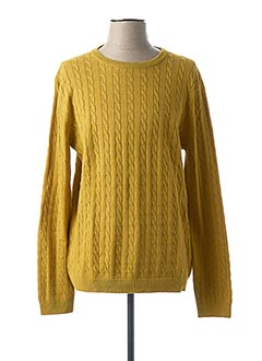 Pull col rond jaune ONLY&SONS pour homme