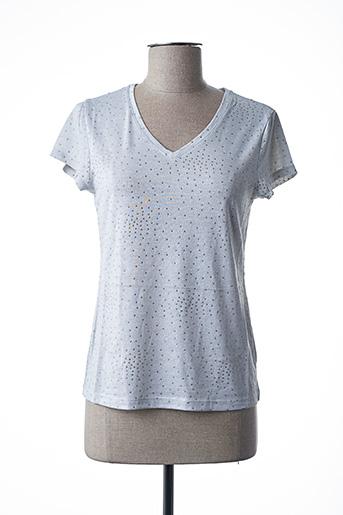 T-shirt manches courtes gris FELINO pour femme